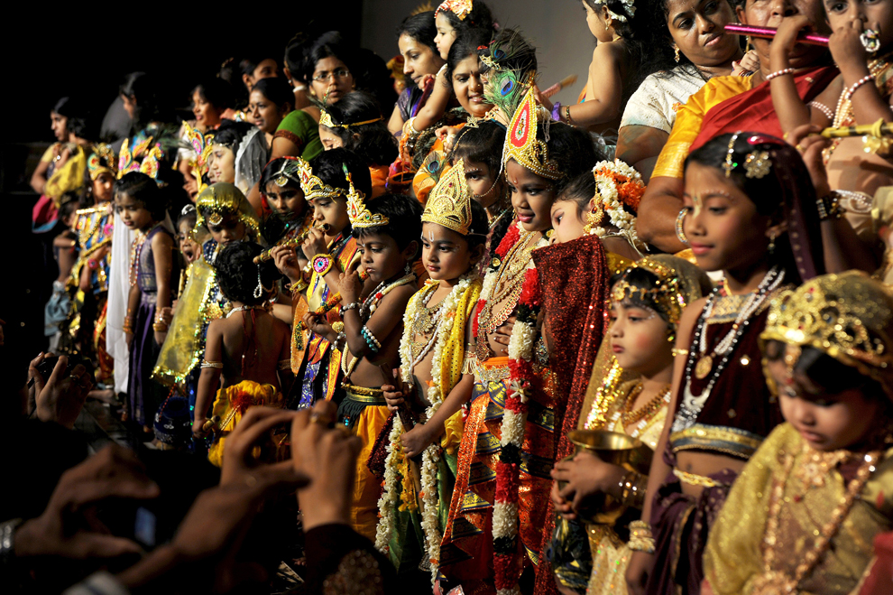 Krishna Janmashtami celebrations at ISKCON Temple in Bangalore, August 21Manjunath KiranAFPGetty Images