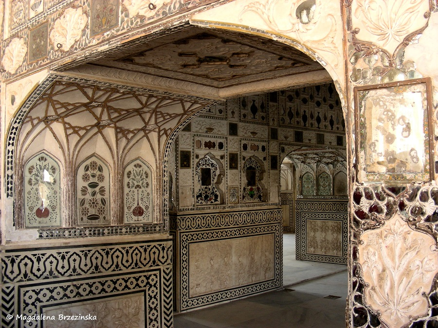 Sheesh Mahal Interior, czyli Pałac Luster Fort Amber, Indie, 2007 © Magdalena Brzezińska