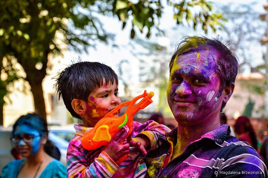 Holi, 6 marca 2015 r., Ahmedabad, Indie © Magdalena Brzezińska