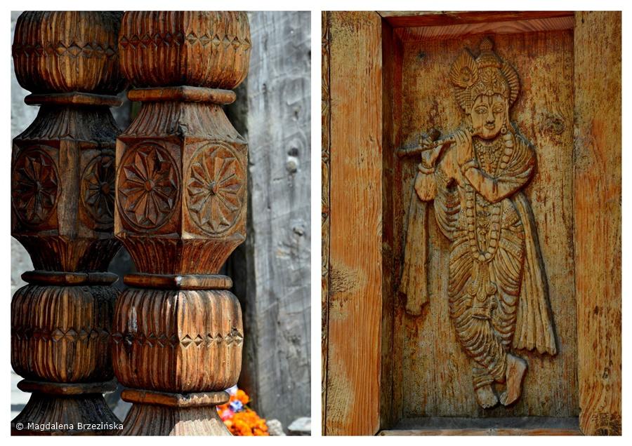 Rzeźbione w drewnie detale świątyniVashisht , Indie, lipiec 2016 © Magdalena Brzezińska