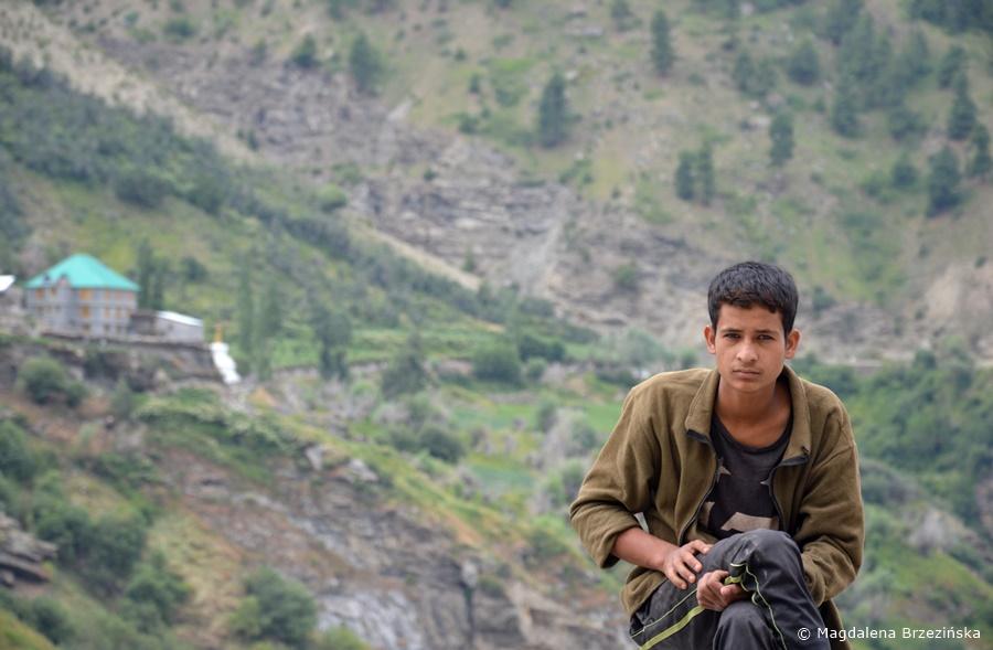 Chłopiec z Keylong, Indie, lipiec 2016 © Magdalena Brzezińska