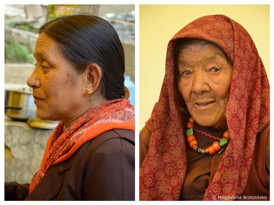 Po prawej najstarsza z kobiet. Klasztor Shashur, Indie, lipiec 2016 © Magdalena Brzezińska
