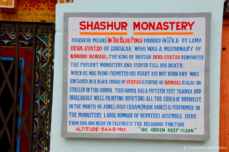 Klasztor Shashur, Indie, lipiec 2016 © Magdalena Brzezińska