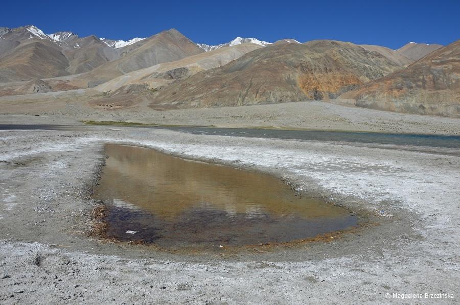 fot. To zdjęcie jest dowodem na to, że jezioro jest słone © Magdalena Brzezińska, Ladakh, Indie 2016