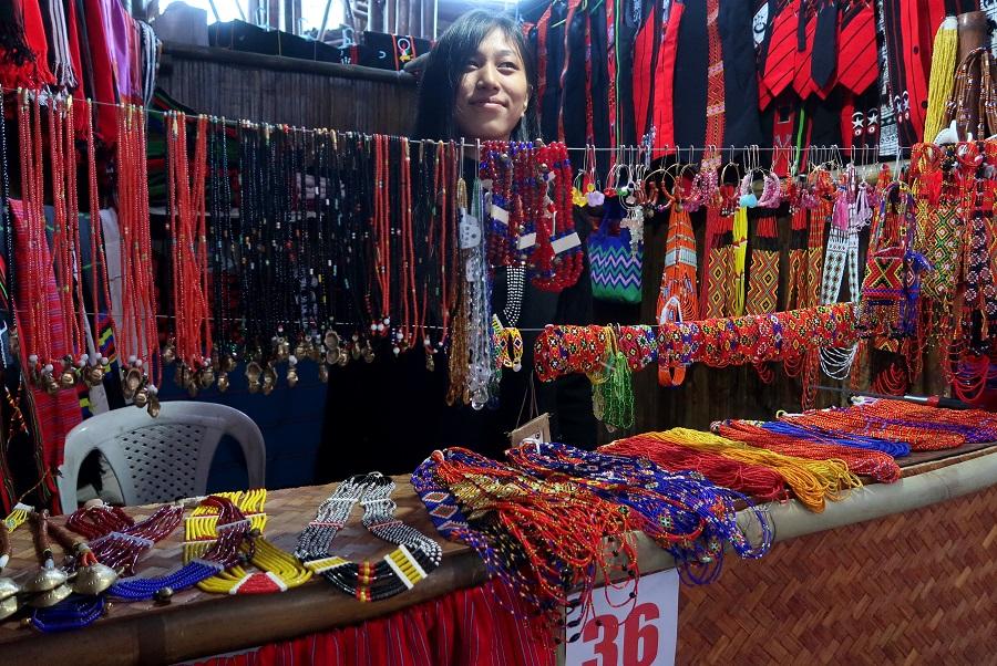 fot. Rękodzieło z Nagaland © Magdalena Brzezińska, Hornbill Festiwal, Indie, 2019