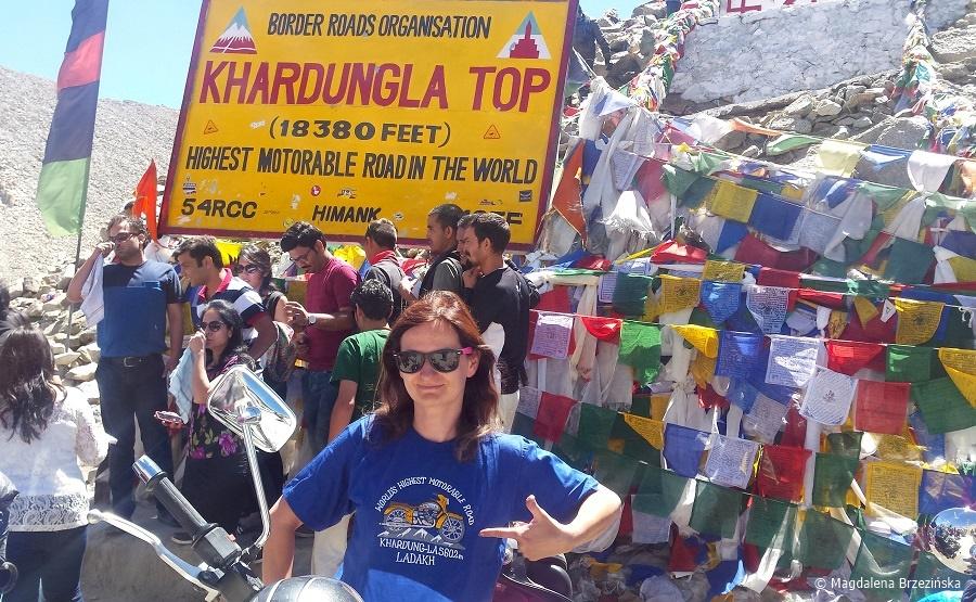 fot. Khardung La zdobyta! © Magdalena Brzezińska, Ladakh, Indie 2016