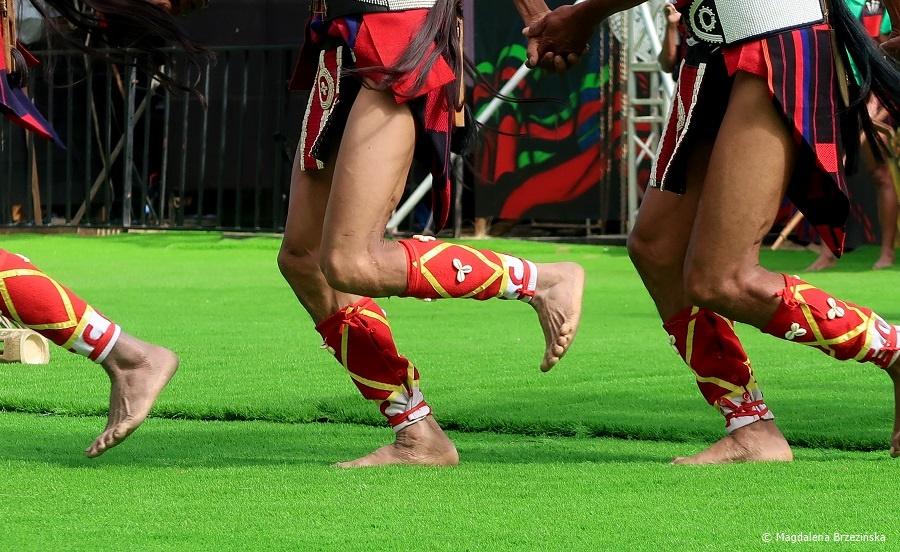 fot. Ozdoby na nogach wojowników Sangtam © Magdalena Brzezińska, Hornbill Festiwal, Kisama, Indie, 2019